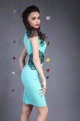 Rochie Elegance Turcoaz- www.zonia.ro