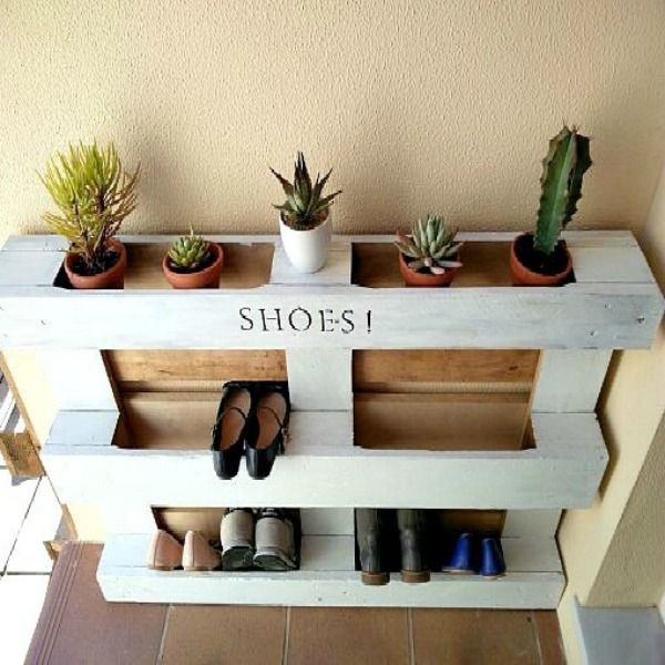 DIY Easy Pallet Shoe Rack Part 82
