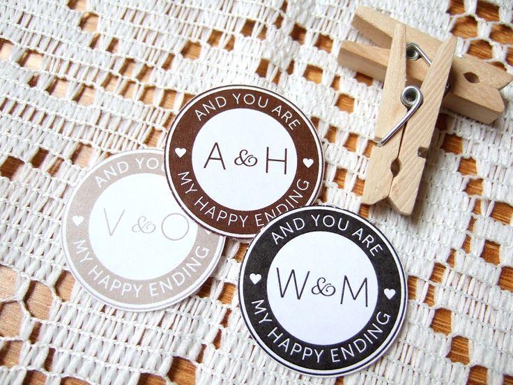 DIY Wedding Envelope Seals - Polka Dot Bride