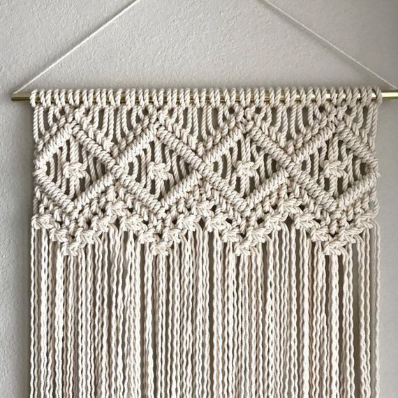 Macrame Wall Hanging Pattern  Pattern Name - Four of Diamonds  Buy three patterns and get one free! Coupon Code: MyFreePattern  This is a digital download pattern for a Macrame Wall Hanging that I designed. It list the materials needed as well as a step-by-step on how to complete the project. Suitable for a beginner if you work alongside my YouTube Macrame videos which can be found at tinyurl.com/reformfibers  ***This is for the pattern only; completed project, or Knot Guide not included...
