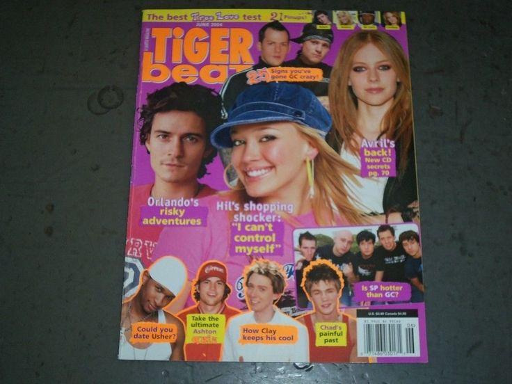 2004 JUNE TIGER BEAT MAGAZINE - HILARY DUFF - AVRIL LAVIGNE - BT 9340