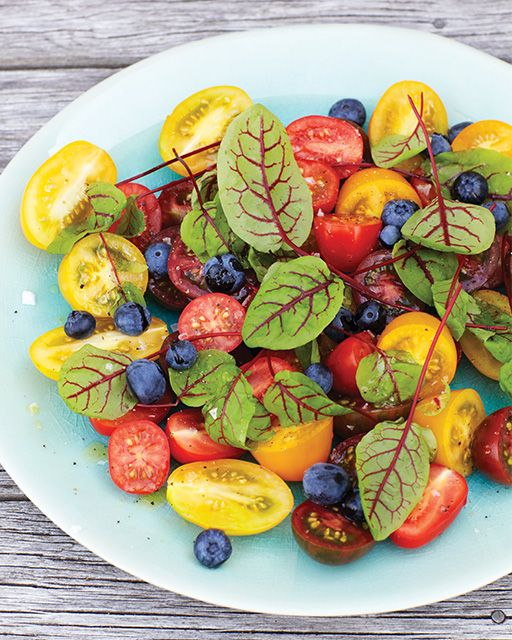 Tomato and Blueberry Salad - Fresh, colorful, and tasty!