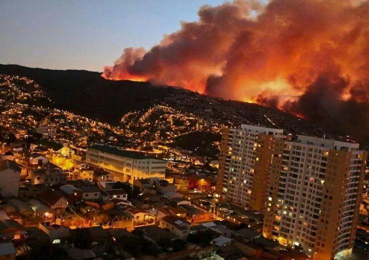 Incendio Valparaíso - Chile 12/04/2014