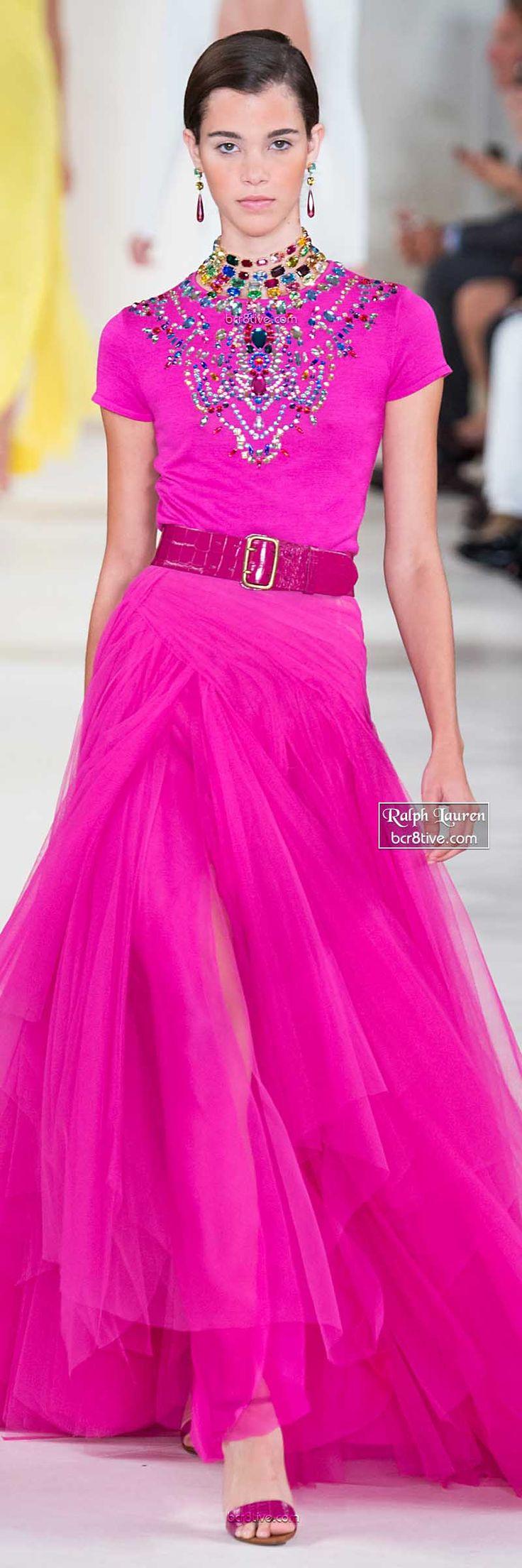 Ralph Lauren ~  Spring Fuchsia Maxi Dress 2015