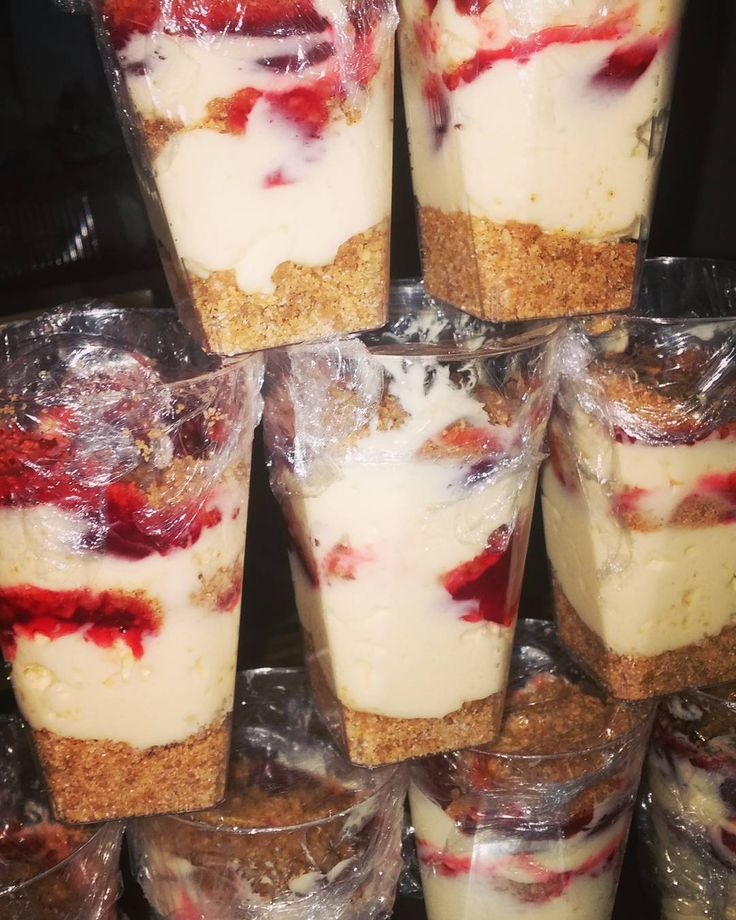 Strawberry Cheesecake cups  #mobilecaterer #weekend #food #steak #soulfood #shrimp #salmon #custommeals #macaroniandcheese #TGIF #southfield #michigan #detroit #novi #northville #warren #royaloak #birmingham #food #westbloomfield #pickup & #delivery available! by missbscateringco