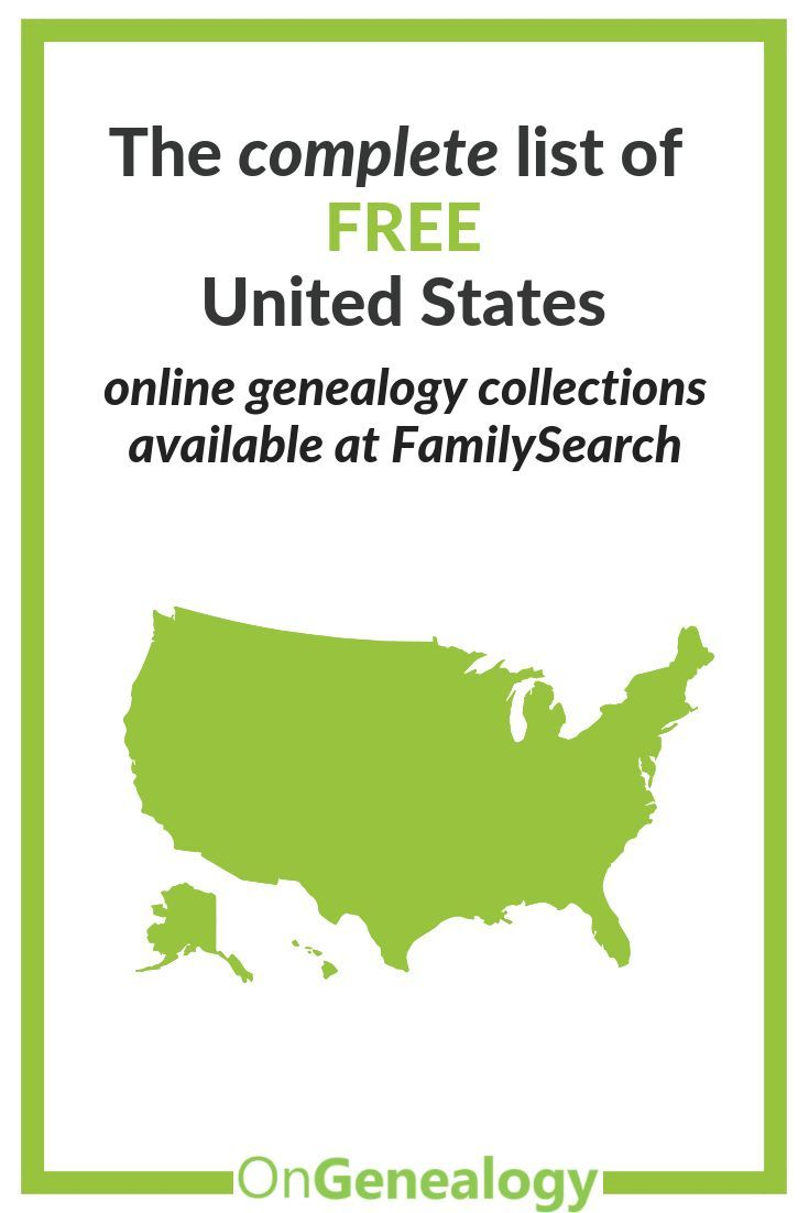 United States Genealogy Records at FamilySearch | Genealogy