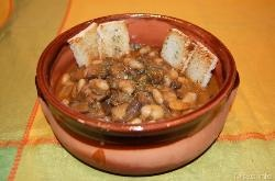 » Zuppa di funghi e fagioli - Ricetta Zuppa di funghi e fagioli di Misya