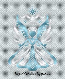Cross stitch angel. Free. Not English, but has Patten.