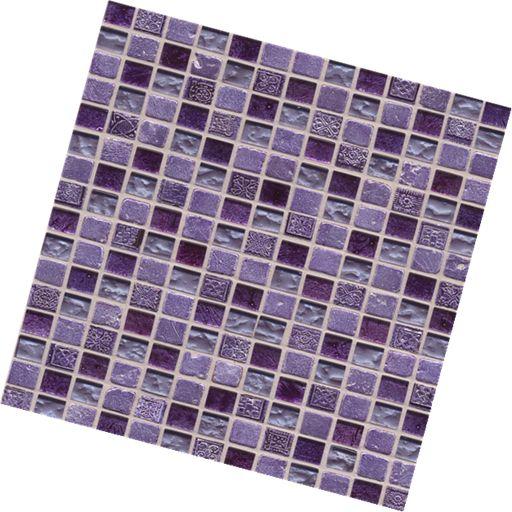 Nayade Purple Mosaic 300X300mm 08126 Beaumont Tiles