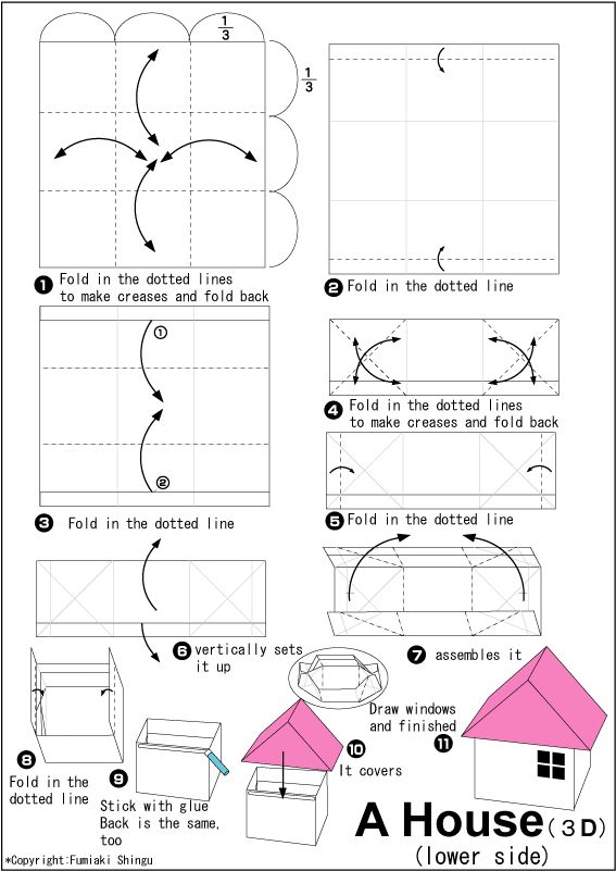 origami house bottom mapping project lesson pinterest