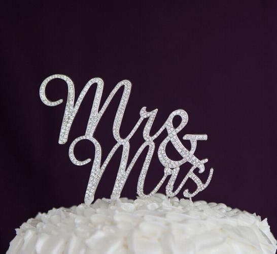Free Shipping 1pcs rhinestone Wedding Cake stand Mr & Mrs Wedding Cake Topper Wedding Cake Decoration rustic wedding decoration