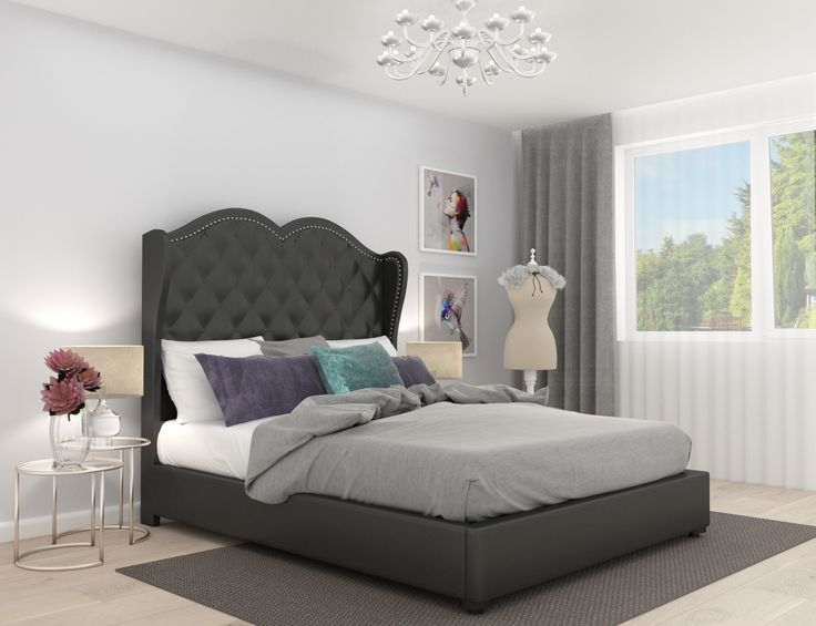 #bedroom #inspiration #homedecor #glam #glamour #gold #bed #black