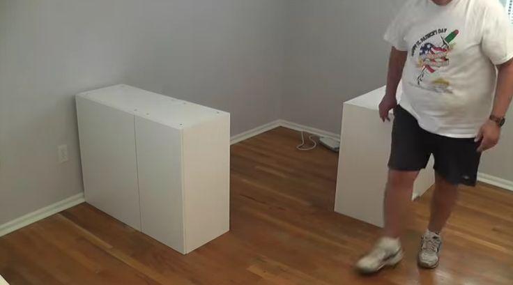 Trasladó los muebles de la cocina al dormitorio transformándolos en algo brillante