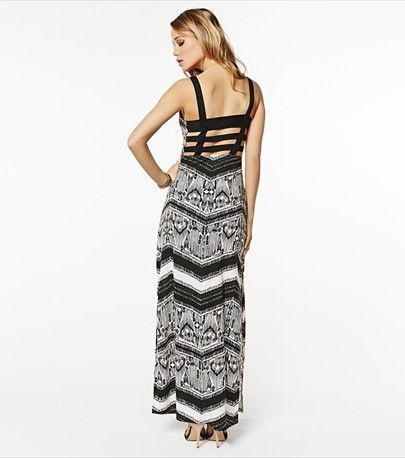 We're in love with this maxi dress' hot banded back!