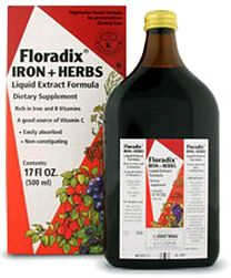 Floradix - an absolute gift from heaven for those with low iron.  Makes me feel human again.