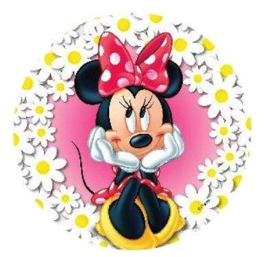 Disque Azyme 21 cm Minnie Fleurs - La jolie Minnie s'invite sur le gâteau de vos enfants. Émerveillez-les avec ce disque azyme, joli et neutre au goût, il est très simple d'utilisation. Déposez simplement le disque azyme sur votre gâteau. En vente à petit prix sur Cuisineaddict.com