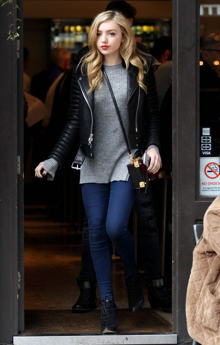 Peyton List Casual Style – Out in London, November 2015