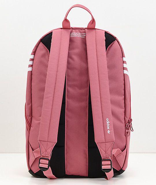 adidas Originals Big Logo Dark Pink Backpack   Adidas