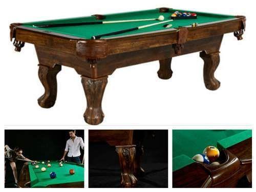 Standard-Pool-Table-Billiard-Game-Room-Wood-Furntiure-Balls-Set-7-039-Foot-Sports