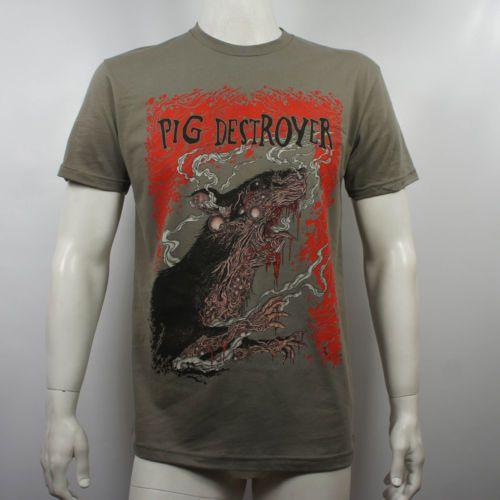 Authentic-Pig-Destroyer-Band-Rats-Melting-Grindcore-T-Shirt-S-M-L-XL-2XL-NEW
