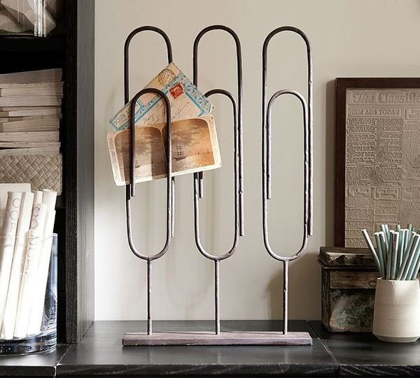 Oversized Office Supply Organizers - The Standing Paper Clip Makes a Great Organizer