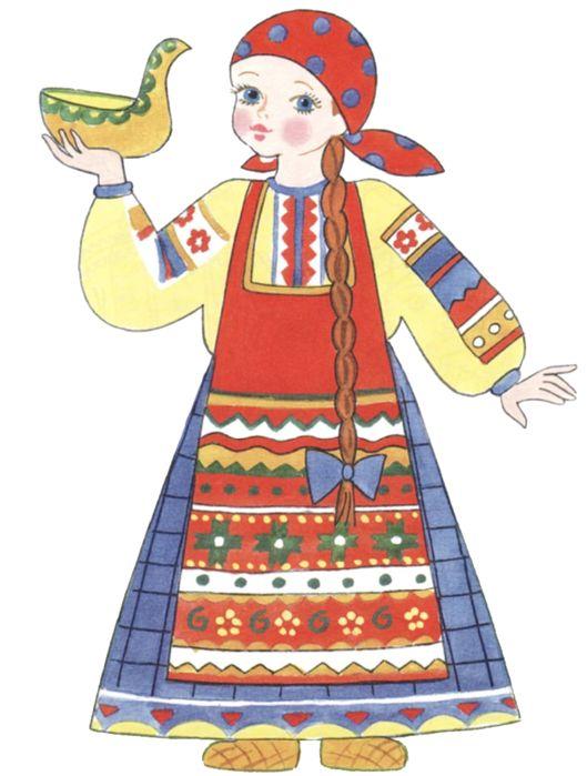 Выкройка мягкой игрушки «Кукла в народном костюме» - Google Search