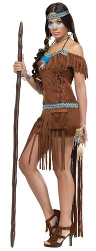 Adult Sexy Indian Princess Native American Medicine Woman Costume Halloween   eBay