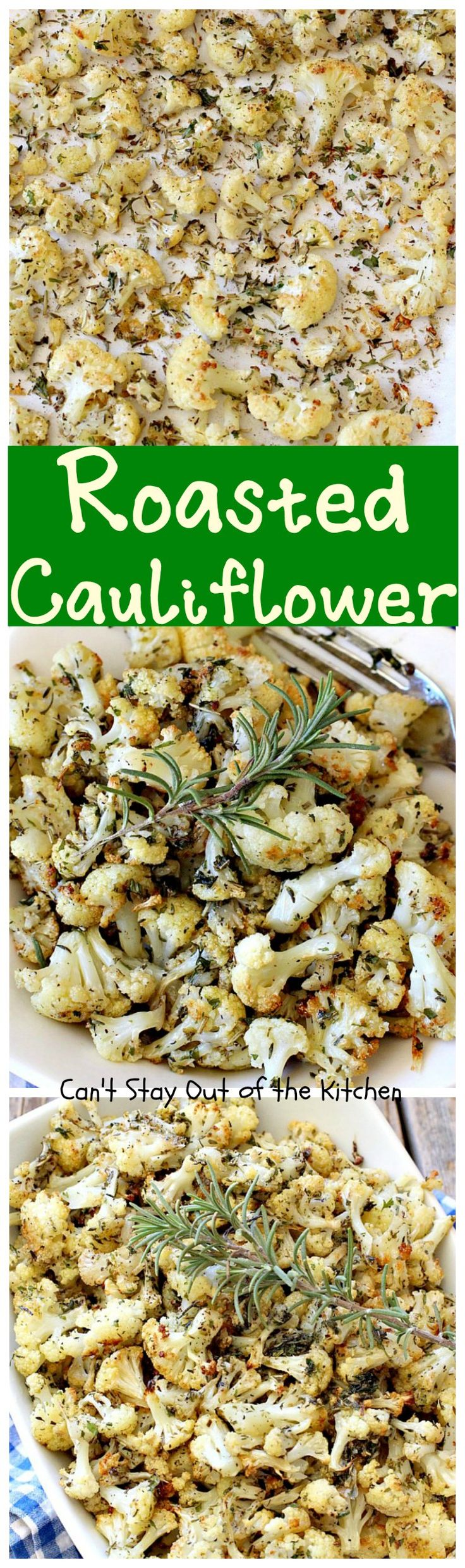 Roasted Cauliflower | Can't Stay Out of the Kitchen | fantastic side dish that's so quick