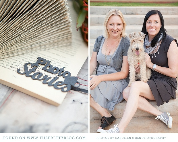 Ilze & Hanlie from V & Me. preparing gorgeous decor for the first KAMERS Bloemfontein