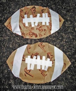 Footballs: count how many laces are on your football. Whose football has more laces? Greater than/ less than.