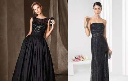 Abiti da cerimonia neri: i modelli più eleganti [FOTO] - Gli abiti da cerimonia neri sono proposti in tutte le nuove collezioni in forme femminili e raffinate: le foto dei modelli più fashion.