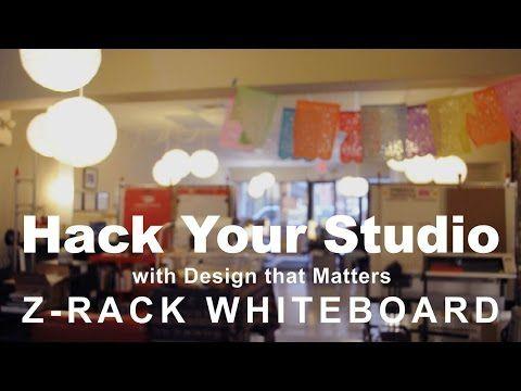 Transform a Clothing Rack into a Portable Whiteboard