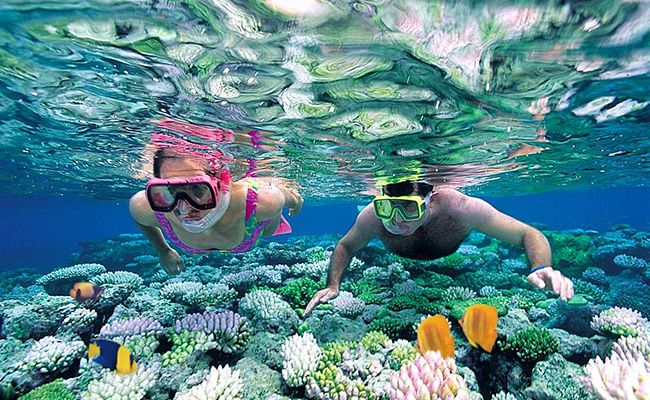 Hikkaduwa coral reef is one the most beautiful coral reefs found in Sri Lanka and the first coral reef to be declared a marine national park.