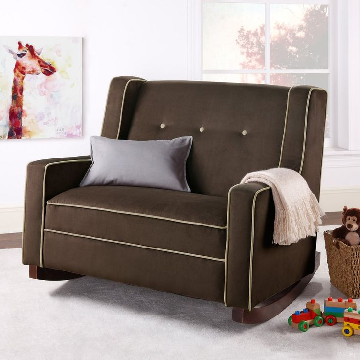 Dorel Upholstered Chair And A Half Rocker Snuggle Up For