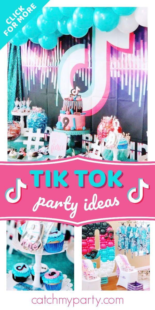 Tiktok Birthday It S A Tiktok Birthday Fancy Catch My Party Birthday Party Activities Birthday Party Party