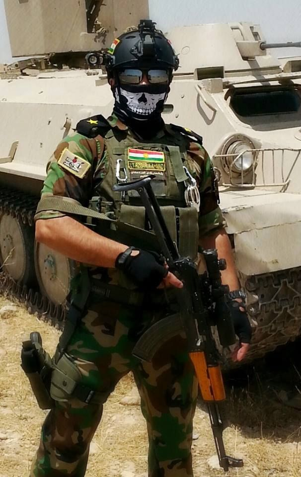 A former FFL soldier from Colorado now called the Necromancer by ISIS fighting under the Kurdish Peshmerga