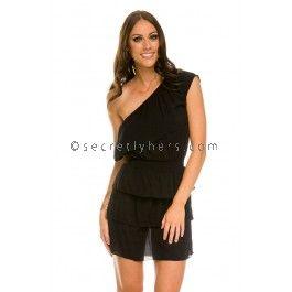 MILK & ROSES Clea Dress in Black