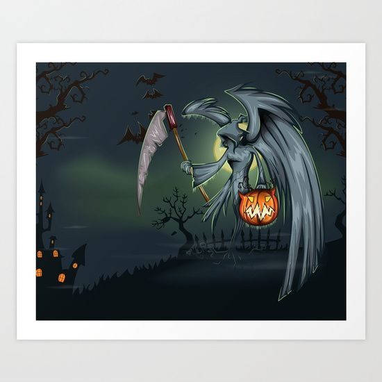 Halloween. Collect your choice of gallery quality Giclée, or fine art prints custom trimmed by hand in a variety of sizes with a white border for framing.