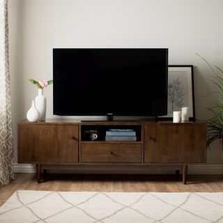 WYNDENHALL Tierney Mid-century Low TV Media Stand | Overstock.com Shopping - The Best Deals on Entertainment Centers