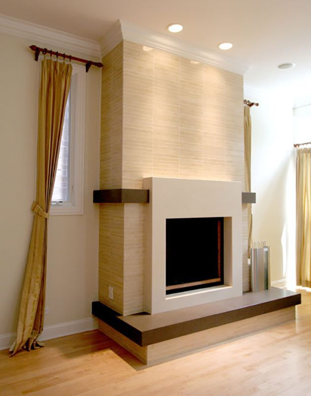 Awesome Ceasarstone Fireplace Trim