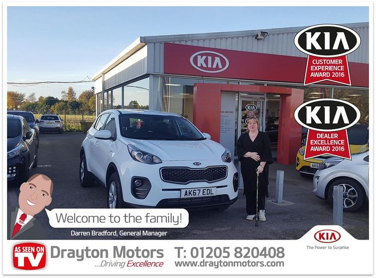 Here we have Kirsty Skinner collecting her new KIA
