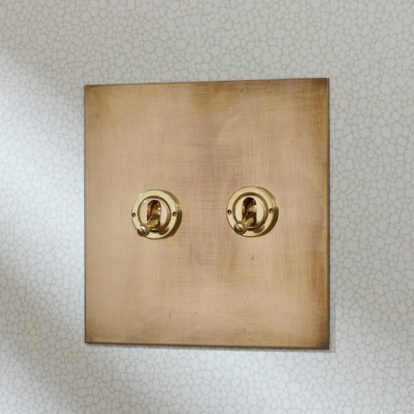 Aged Brass Toggle Switches