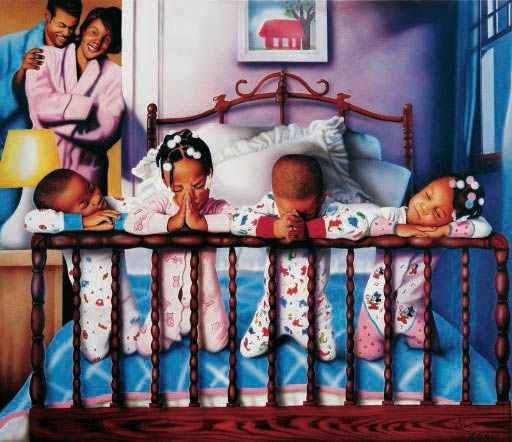 Their Nightly Prayers by Alan and Aaron Hicks ... Reminds me of my childhood
