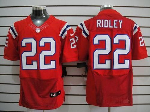 nike patriots 22 stevan ridley red alternate mens embroidered nfl elite jersey25.00usd. new england