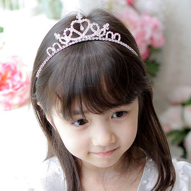 STARWORLD kinderen bruiloft haaraccessoires Meisjes Strass Haarband Kroon Hoofdband haar sieraden Prinses Kroon Tiara