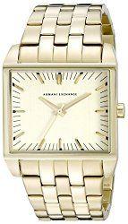 Armani Exchange Men's AX2219 Analog Display Analog Quartz Gold Watch