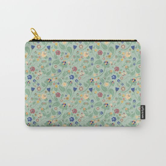 Scandinavian Paisley Carry-All Pouch