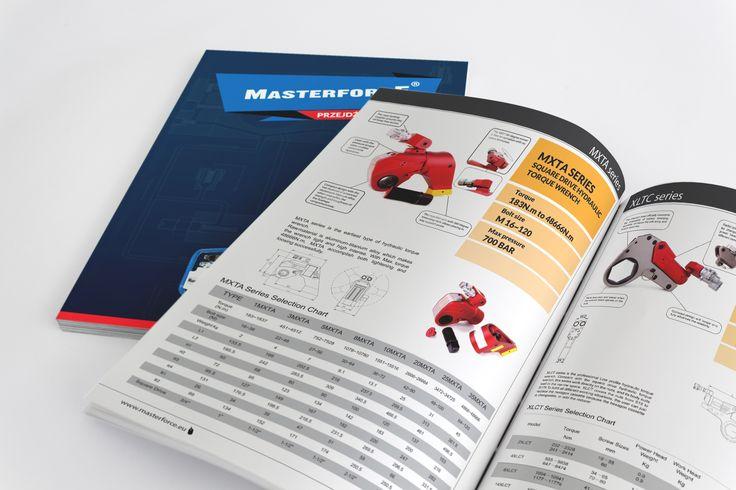 Katalog produktowy marki Masterforce. #katalog #katalogi #design #grafika #projektowanie #graficzne