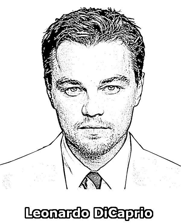 Leonardo Di Caprio coloring pages http://topcoloringpages.net/famous/leonardo-dicaprio-coloring-page/