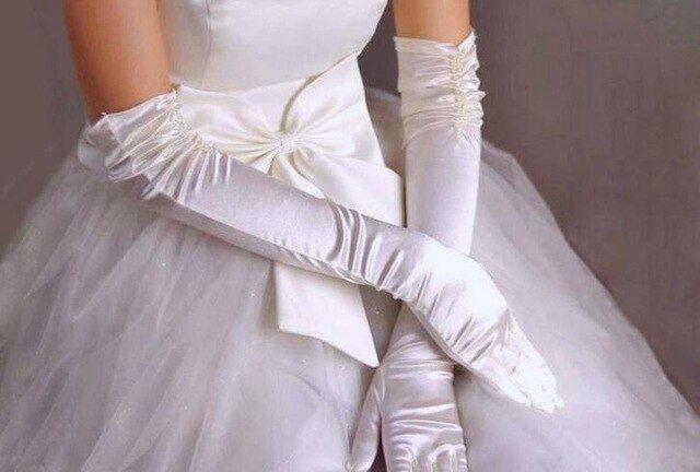 Vintage Spandes Embroidered Stretch Women Gloves Bridal Party Elegant Glove